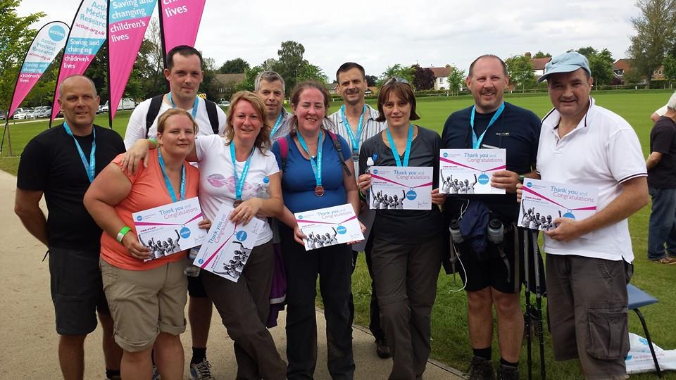 Pioneer Foods do the 'Rutland Plod' in aid of Action Medical